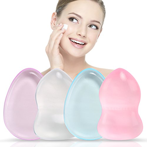 LIHAO 4 x Esponjas Silicona Maquillaje para Crema...