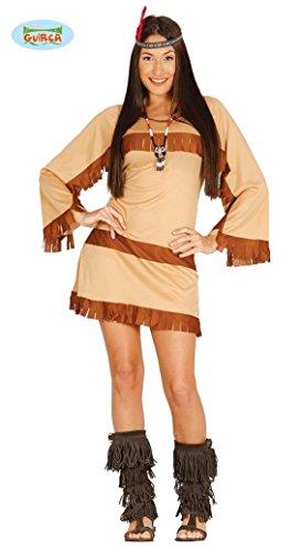 Frau Kostüme Indianer (KOSTÜM - INDIANERIN - Größe 42/44 (L), Wilder Westen Cowboys Indianer Frau Girl)