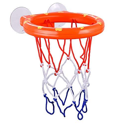 PQZATX Bade Spielzeug Spa? Basketball Korb Ball Spielset für Jungen M?dchen Bade Wanne Spiel Lern Spielzeug für Kinder mit 3 B?lle - Basketball-spiel Ball