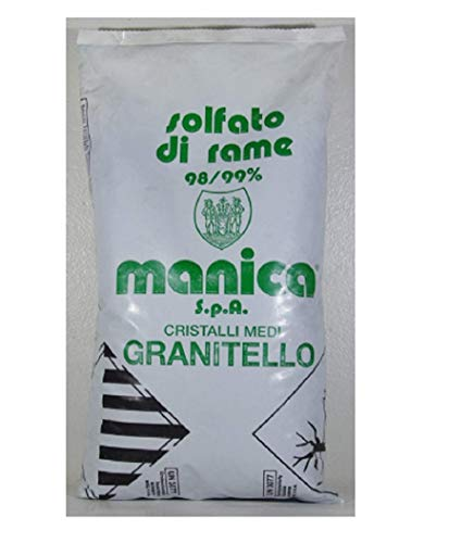 SOLFATO DI RAME GRANITELLO 98-99% DI PUREZZA IN CONFEZIONE DA 1 KG