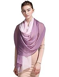 Prettystern - Schal mit Farbverlauf 180cm x 70cm 100% Seide Damenschal - Farbauswahl