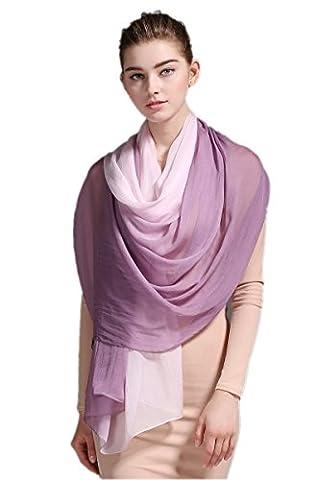 Prettystern - foulard en soie avec gradient de 180 x
