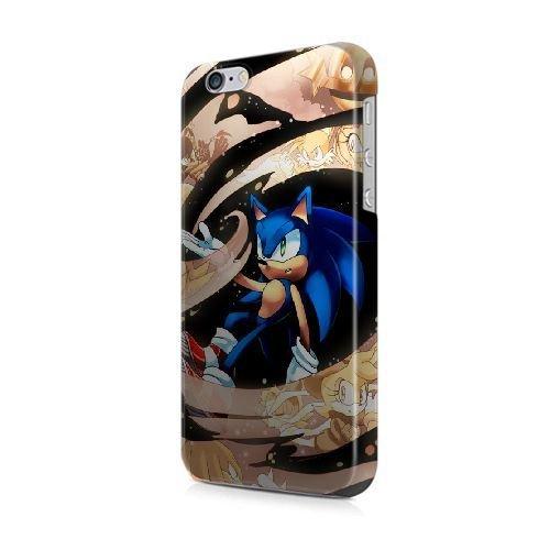 COUTUM iPhone 5/5s/SE Coque [GJJFHAGJ72564][SOUL EATER THÈME] Plastique dur Snap-On 3D Coque pour iPhone 5/5s/SE SONIC THE HEDGEHOG - 017