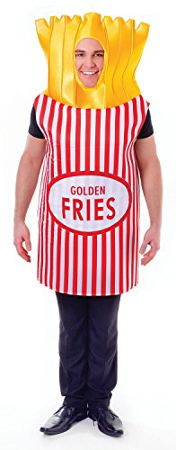 French Fries, Adult Fancy Dress Costume, One (Pommes Kostüme Erwachsenen)