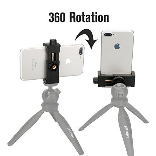 Supporto Universale per Treppiedi per Smartphone, Adattatore per Treppiedi Ulanzi di Selfie Stick per iPhone 7 Plus Samsung Nexus