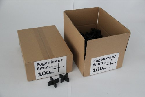 Fugenkreuze 8mm, Bauhöhe 20mm, 500 Stück im Karton