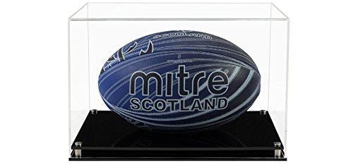 Rugby-Ball Acryl-Vitrine mit einer Auswahl von Basis Stile