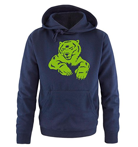 Comedy Shirts - POLAR BEAR II - Uomo Hoodie cappuccio sweater - taglia S-XXL different colors blu navy / verde