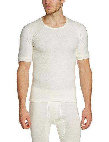 Susa Herren Thermounterwäsche - Oberteile Angora Unterhemd s8050090, Einfarbig, Gr. Large, weiß (wollweiß s115)