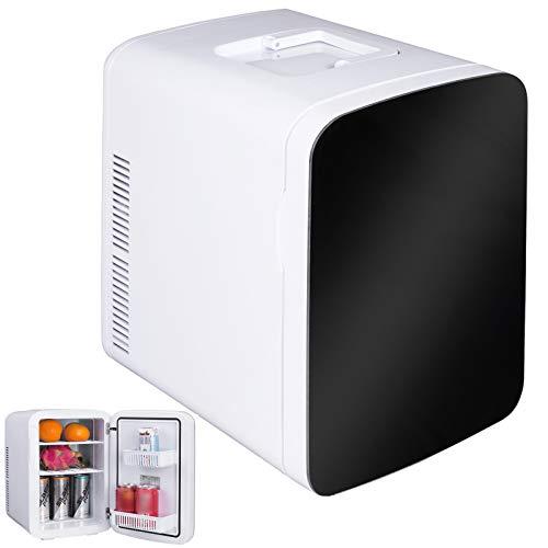 WOLTU KUE005wsz Kühlbox, Thermo-Elektrische Mini-Kühlschrank, 15L Isolierbox Erwärmen, warmhalten oder kühlen, 12V&220V, für Auto und Camping (Mini Camping Kühlschrank)