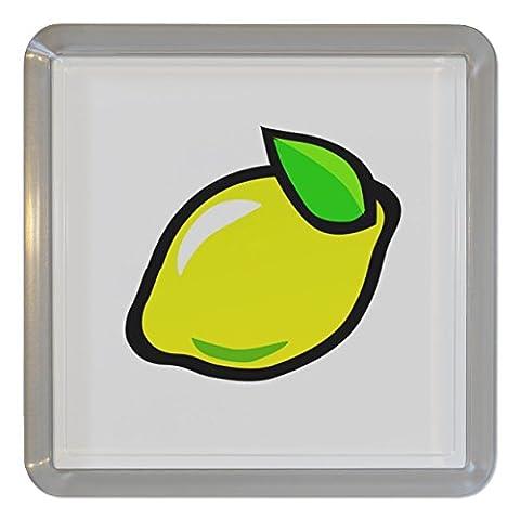 Fruit Machine Lemon - Plastique transparent thé Coaster / Mat bière