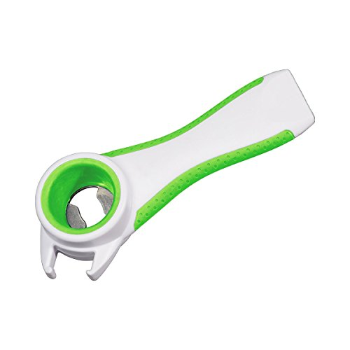 """Multi-Öffner \""""4 in 1\"""", Getränkedosen, Flaschen mit Kronkorken oder Schraubverschluss, Einmachgläser und Dosen mit Ring-Pull-Verschluss sind mit diesem Helfer leicht zu öffnen"""