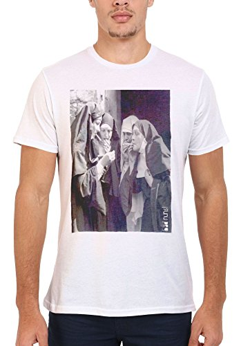 Bad Nuns Smoking Sister Religion Funny Men Women Damen Herren Unisex Top T Shirt .Weiß
