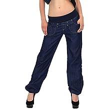 by-tex Jean pour Femme Pantalon Chino Aladin pour Femme Jean Boyfriend  Femmes Jean Baggy 119b8c7fb83