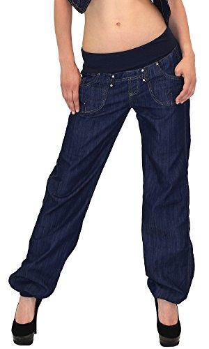 by-tex Damen Jeans Hose Haremshose Pumphose Damen Jeans Boyfriendhose Boyfriend Jeanshose J132