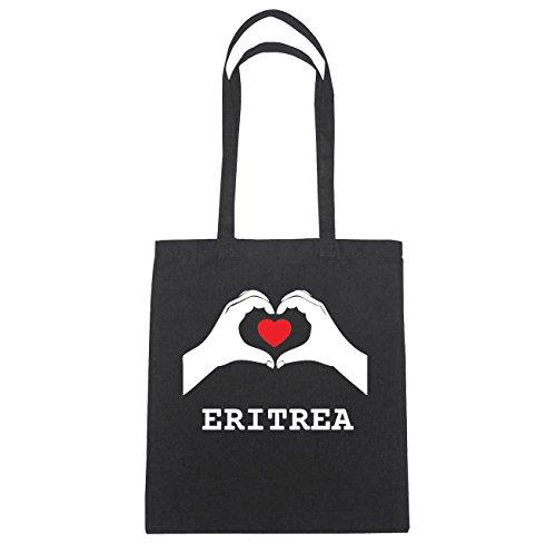 JOllify Eritrea di cotone felpato b4653 schwarz: New York, London, Paris, Tokyo schwarz: Hände Herz