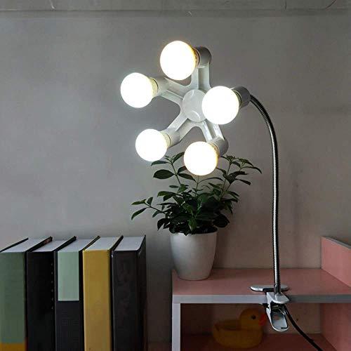 haltsschreibtischlampe, Scheinwerferlampe 5 Scheinwerfer LED-Licht Nachtlicht Leselicht Augenschutz Nachttischlampe Leselampe Schlafzimmerlicht Make-up-Licht Schönheitslicht Live- ()