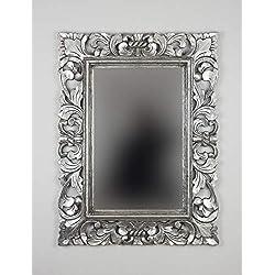 Rococo Espejo Decorativo de Madera Flat Miring Plinkut de 120x80 en Oro Envejecido