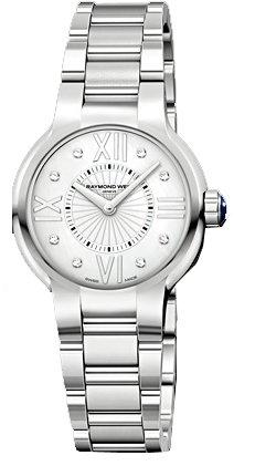 Raymond Weil Noemia 5932-ST-00995acero inoxidable cuarzo reloj de pulsera para mujer