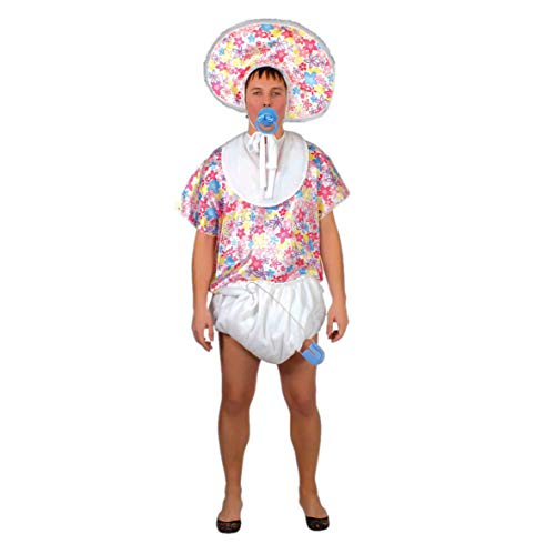 Kreative Männer Kostüm Lustige - Riesen Baby Kostüm für Erwachsene Gr. M/L, Größe:L