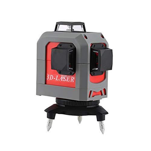 haodene Laser Level-Nivelliergerät 360 Vertikaler und horizontaler Self-Leveling Cross Line Roter Strahlnivellierer Professioneller 3D 12-Linien-Infrarotstrahlnivellierer -