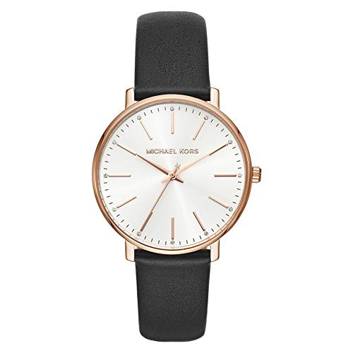 Michael Kors Damen Analog Quarz Uhr mit Leder Armband MK2834