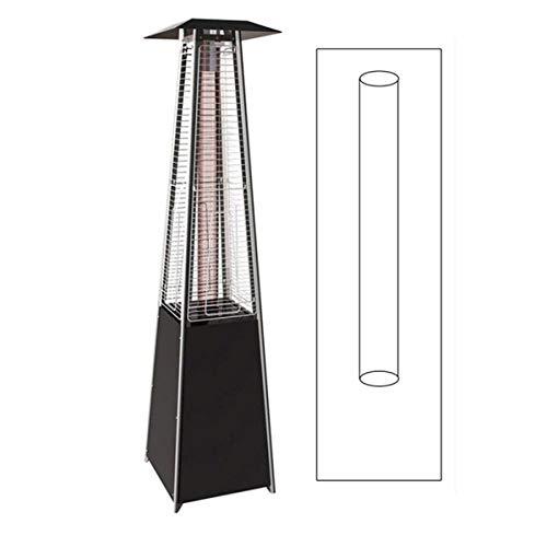 Tube en verre de rechange pour parasol chauffant pyramidal Flamme