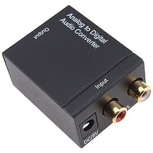 Generic Adaptateur convertisseur audio analogique vers numérique Noir 2x 2x 2x 1