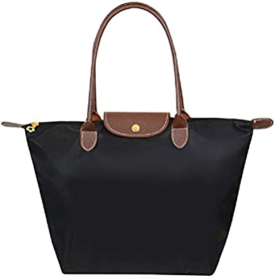Pixnor Bolsa bolso mujer elegante impermeable de Nylon (negro)