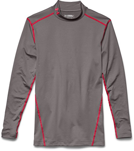 Under Armour Herren UA CG Armour Mock Fitness-Sweatshirts, Tan Stone/Red, LG Tan Herren Sweatshirt