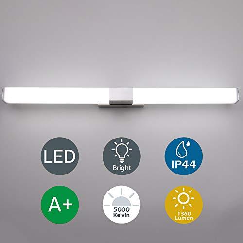 Klighten lámpara de espejo, lámpara de pared LED de 16 W, lámpara de baño de 80 cm para espejo...