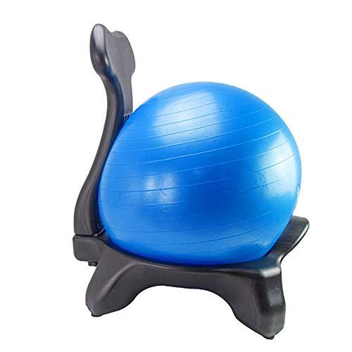 DWhui Yoga Ball Chair Balance Ball Chair mit Back Support & Stability Ball Übungsleiter für Home Correction Sitz-Stule (Stability Ball Chair)