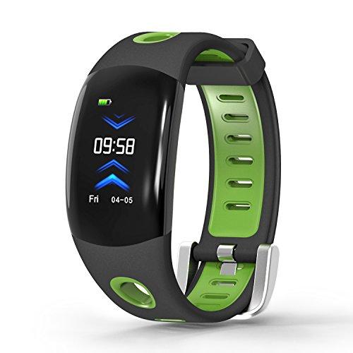 JBC Fitness Armband/Smartwatch/Schrittzähler/Routenverlauf/Pulsmesser/Kalorienverbrauch (Grün)