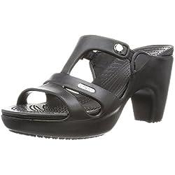Crocs Cyprus V Heel W, Damen T-Spangen Pumps, Schwarz (Black/Black 060), 39/40 EU