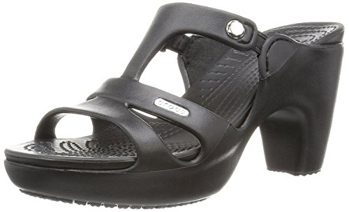 crocs Cyprus V Heel Women, Damen Pumps, Schwarz (Black/Black), 41-42 EU