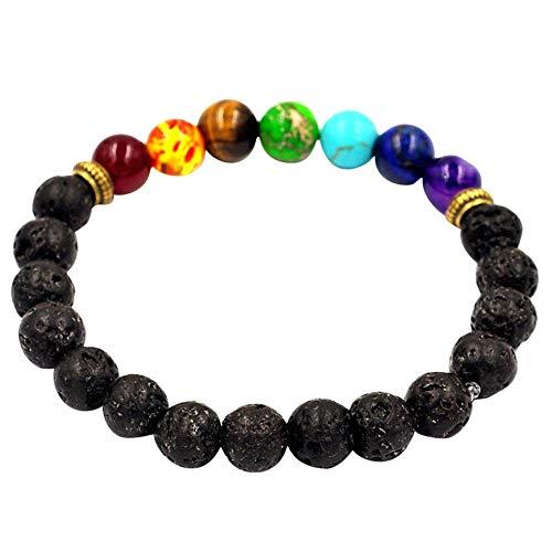 Cwemimifa Damen Armband - Herz Armbändchen Rosegold auf schwarzem Band,Frauen männer Armband elastische perlen Armband Tibet Charme armbänder,Schwarz