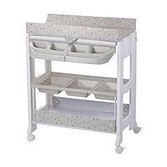 Idea Regalo - Safety 1st Dolphy Fasciatoio con vaschetta per bagnetto neonato, con materassino imbottito incluso, colore warm gray