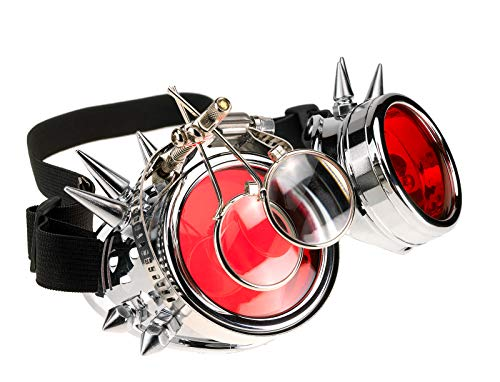 4sold Loupes Steampunk Antique Copper Cyber   Goggles Rave Goth Vintage Victorian Sonnenbrillen...