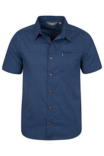 Mountain Warehouse Camicia Uomo da viaggio manica corta Cocco Blu navy
