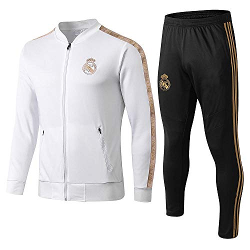 zhaojiexiaodian Regali per Uomo Adulto Allenamento per Il Calcio Abbigliamento Sportivo Giacche e Pantaloni Completi Zipper