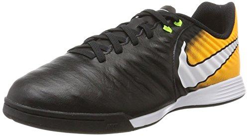 Nike Unisex-Kinder Fußballschuhe Fußballschuhe Jr. TiempoX Ligera IV IC, Schwarz (Black/white/laser Orange/volt), 35.5 EU (Nike Mädchen Für Spandex)