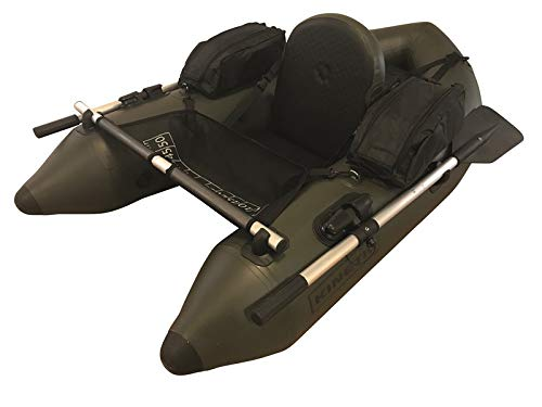 Kinetic Admiral Float Tube - Belly Boat, Boot mit Rudern, Pumpe und Taschen, Sehr Hoher Komfort, langlebiges Dickes PVC Material