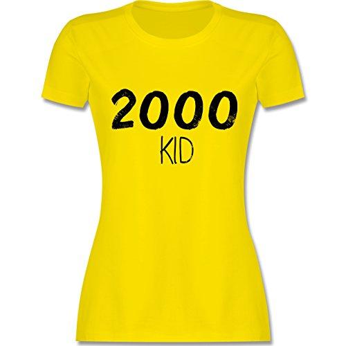 Shirtracer Geburtstag - 2000 Kid - Damen T-Shirt Rundhals Lemon Gelb