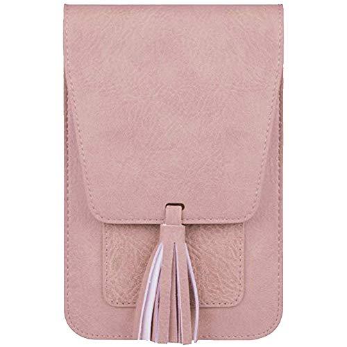 Umhängetasche Mode Lässig Handtasche Travel Einfarbig Tote Frauen Messenger Bag(Rosa)