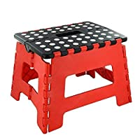 Durable Plastic Multi Purpose Folding Step Stool Home Kitchen Easy Storage
