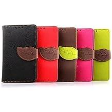 Caso especial del diseño, Patrón de la hoja pu estuche de cuero billetera 4.5 pulgadas para sony xperia e3 (colores surtidos) ( Color : Marrón )