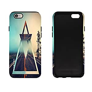 iSweven Highway design printed matte finish 2in1 back case cover for Apple iPhone 6 Plus