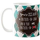 YaYa cafe for Father in Law, Father in Love Combo Set of 1 Mug