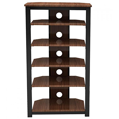 Gecko Tower TOW600 6 Shelf Wood Hi-Fi Stand