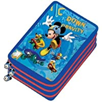 MITAMA Mickey Mouse Clubhouse Pencil Case PVC Coloured Pencils–Crayons Kits